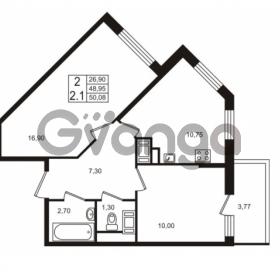 Продается квартира 2-ком 48.95 м² проспект Строителей 1, метро Улица Дыбенко