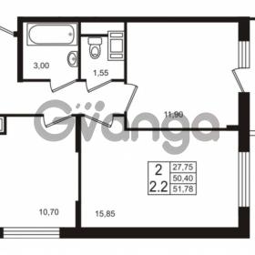 Продается квартира 2-ком 50.4 м² проспект Строителей 1, метро Улица Дыбенко