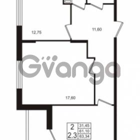 Продается квартира 2-ком 61.1 м² проспект Строителей 1, метро Улица Дыбенко