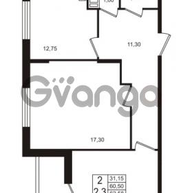 Продается квартира 2-ком 60.5 м² проспект Строителей 1, метро Улица Дыбенко