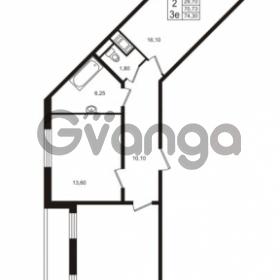 Продается квартира 2-ком 70.73 м² проспект Строителей 1, метро Улица Дыбенко