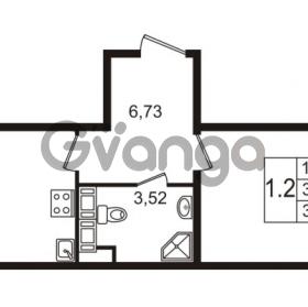 Продается квартира 1-ком 38.05 м² улица Пионерстроя 27, метро Проспект Ветеранов
