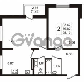 Продается квартира 2-ком 56.82 м² Голландская улица 3, метро Ладожская