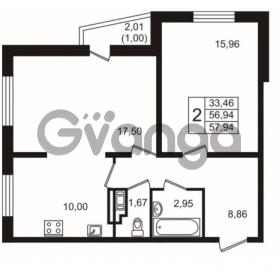 Продается квартира 2-ком 56.94 м² Голландская улица 3, метро Ладожская