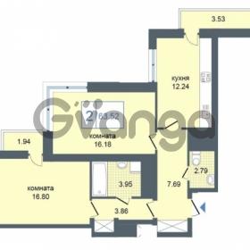 Продается квартира 2-ком 63.52 м² Дунайский проспект 7, метро Звёздная