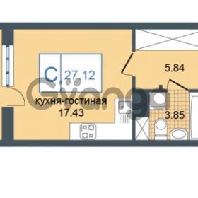 Продается квартира 1-ком 27.12 м² Дунайский проспект 7, метро Звёздная