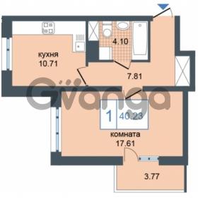 Продается квартира 1-ком 40.23 м² Дунайский проспект 7, метро Звёздная