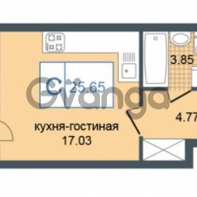 Продается квартира 1-ком 25.65 м² Дунайский проспект 7, метро Звёздная