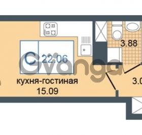 Продается квартира 1-ком 22.06 м² Дунайский проспект 7, метро Звёздная