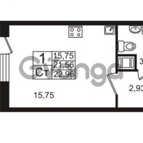 Продается квартира 1-ком 21.56 м² Немецкая улица 1, метро Улица Дыбенко