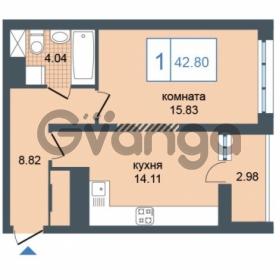 Продается квартира 1-ком 42.8 м² Дунайский проспект 7, метро Звёздная