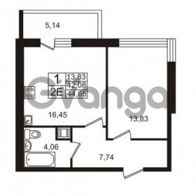 Продается квартира 1-ком 42.08 м² Немецкая улица 1, метро Улица Дыбенко