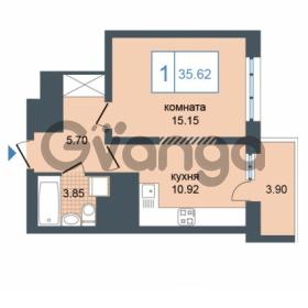Продается квартира 1-ком 35.62 м² Дунайский проспект 7, метро Звёздная