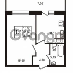 Продается квартира 1-ком 31.59 м² Советский проспект 42, метро Рыбацкое