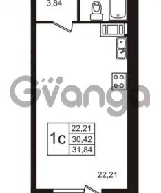 Продается квартира 1-ком 30.42 м² Советский проспект 42, метро Рыбацкое