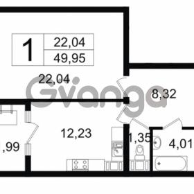 Продается квартира 1-ком 49.95 м² Новгородская улица 17, метро Чернышевская