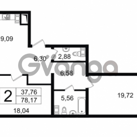 Продается квартира 2-ком 78.17 м² Новгородская улица 17, метро Чернышевская