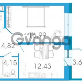 Продается квартира 1-ком 40.12 м² проспект Маршала Блюхера 5к А, метро Лесная