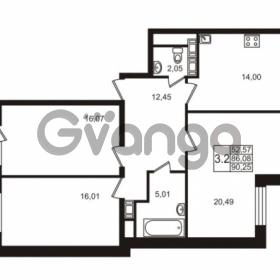Продается квартира 3-ком 86.08 м² улица Катерников 1, метро Проспект Ветеранов