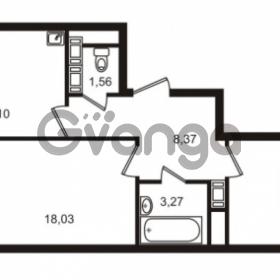 Продается квартира 2-ком 57.38 м² улица Катерников 1, метро Проспект Ветеранов