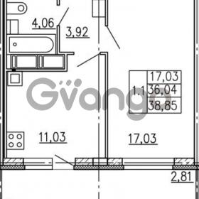 Продается квартира 1-ком 36.04 м² улица Катерников 1, метро Проспект Ветеранов