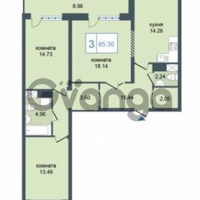 Продается квартира 3-ком 85.3 м² Дунайский проспект 7, метро Звёздная