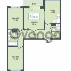 Продается квартира 3-ком 85.33 м² Дунайский проспект 7, метро Звёздная