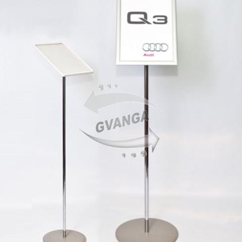 Информационная напольная стойка, рекламный указатель А4, А3, рамка клик-система