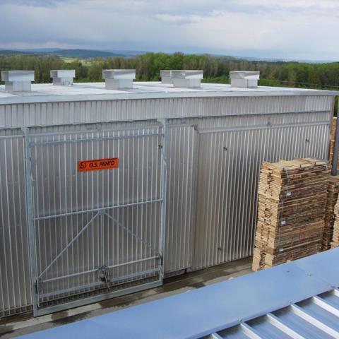 Нові камери для сушіння деревини фірми O.S PANTO(Італія) серії OS-F на 100 кубів.