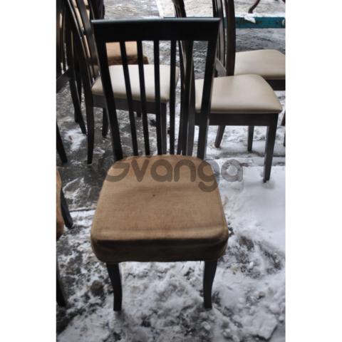Продам деревянные стулья с тканевой подушкой бу