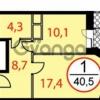 Продается квартира 1-ком 41 м² Фасадная,д.2