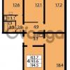 Продается квартира 4-ком 94 м² Муринская дорога 7, метро Гражданский проспект