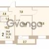 Продается квартира 2-ком 51.2 м² Областная улица 1, метро Улица Дыбенко