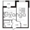 Продается квартира 1-ком 37 м² Пригородная