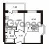 Продается квартира 1-ком 33.73 м² улица Адмирала Черокова 18к 3, метро Проспект Ветеранов