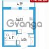 Продается квартира 1-ком 25.72 м² Петровский бульвар 5, метро Девяткино
