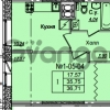 Продается квартира 1-ком 36.71 м² Приреченская улица 1, метро Рыбацкое
