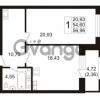 Продается квартира 1-ком 54.6 м² Ушаковская набережная 3, метро Черная речка