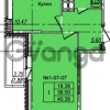Продается квартира 1-ком 40.38 м² Приреченская улица 1, метро Рыбацкое