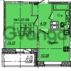 Продается квартира 1-ком 34.26 м² Приреченская улица 1, метро Рыбацкое