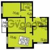 Продается квартира 3-ком 81.4 м² Витебский проспект 101к 3, метро Купчино