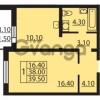 Продается квартира 1-ком 38 м² Муринская дорога 7, метро Гражданский проспект