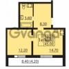 Продается квартира 1-ком 40.8 м² Муринская дорога 7, метро Гражданский проспект