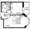 Продается квартира 1-ком 32.77 м² улица Пионерстроя 27, метро Проспект Ветеранов