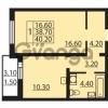 Продается квартира 1-ком 38.7 м² Муринская дорога 7, метро Гражданский проспект