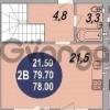 Продается квартира 2-ком 77 м² Московская улица, 158лит1