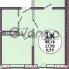 Продается квартира 1-ком 41 м² Заполярная улица, 35лит7