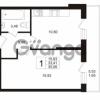 Продается квартира 1-ком 33.41 м² Охтинская аллея 1, метро Девяткино