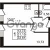 Продается квартира 1-ком 31.15 м² Охтинская аллея 1, метро Девяткино