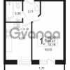 Продается квартира 1-ком 31.47 м² бульвар Менделеева 5, метро Девяткино